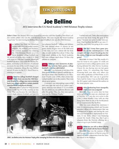 Joe Bellino Armchair General