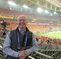 John Ingoldsby covering the first-ever College Football Playoff National Championship game in Dallas.