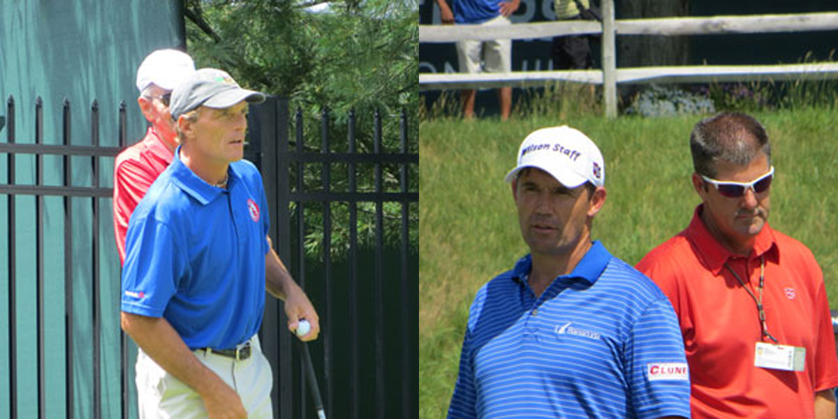 Doug Flutie, Padraig Harrington at 2015 Travelers Celebrity Pro-Am