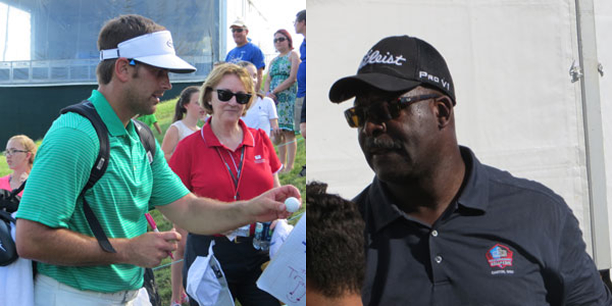 Stephen Gostkowski, Andre Tippet at 2015 Travelers Celebrity Pro-Am
