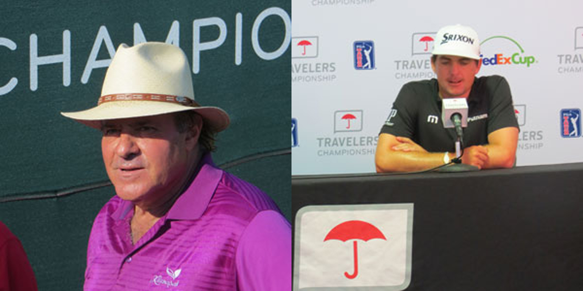 Chris Berman, Keegan Bradley at 2015 Travelers Celebrity Pro-Am